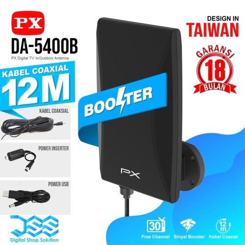 Foto Produk Antena Tv Digital +Kabel 12 meter & Booster Indoor Outdoor PX DA 5400B dari Digital Shop Solution