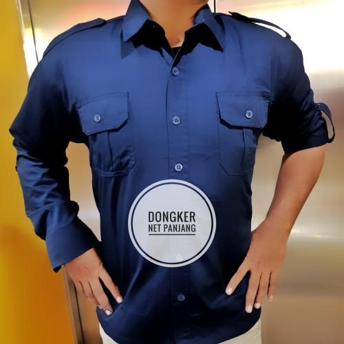 Foto Produk Seragam Baju Kemeja Panjang Trans TV Net TV Hitam Biru Navy PDH PDL - M dari Top Star