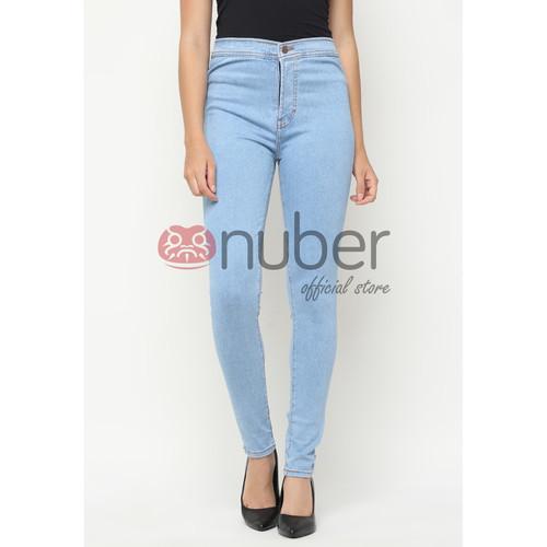 Foto Produk Celana Panjang Jeans Highwaist Skinny Stretch Washed Blue-Petunia - 27 dari nubersupply