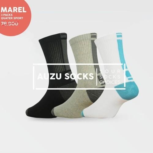 Foto Produk Premium Crew Sport Socks - Kaos Kaki Olahraga Basket Tebal Panjang - Putih dari Auzu