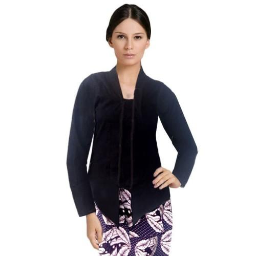 Foto Produk Kebaya Kutubaru Embos Warna Hitam dari Jogja Batik