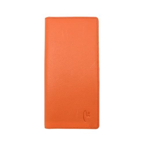 Foto Produk VERMONT V83 - L001 Luxury Orange Genuine Leather Long Wallet 20 Cards dari VERMONT LEATHER