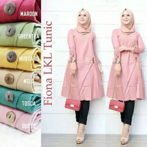 Foto Produk Baju Muslim Blouse Tunik Hijab Muslim Fiona LKL Katun dari My1stShop