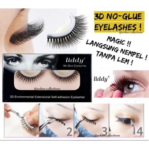 Foto Produk MAGIC! NO GLUE EYELASHES/Bulu Mata Palsu 3D Liddy Fake Eyelash No Lem - 3D-09 dari Urban Collections