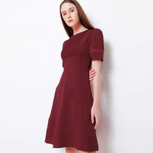 Foto Produk Chocochips - Yoshiko Dress Dark Red - Merah, S dari Chocochips Official Shop