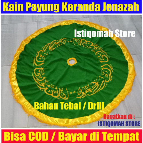 Foto Produk Kain Payung untuk Keranda Jenazah Warna Hijau Muda Bahan Tebal Drill dari Istiqomah-Store