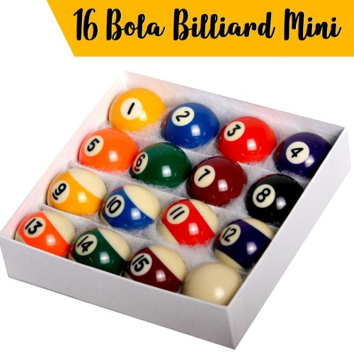 Foto Produk 16 Bola Billiard Mini / Mini Billiard Ball dari OFFICIAL KIDZ PLANET