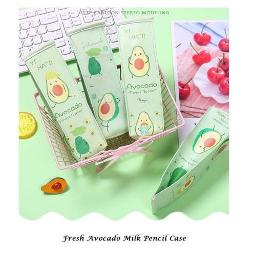 Foto Produk TP0069 Tempat Pensil Fresh Milk Avocado / Tempat Kosmetik - avo milk tiga dari EnnWen Online Store
