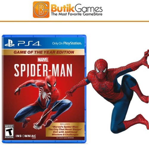 Foto Produk SpiderMan PS4 GOTY Game of the Year edition dari Butikgames