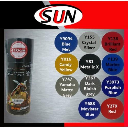 Foto Produk Pilox Samurai 400 ml Grey Silver yellow Blue Met Moviestar Metalic dari Sun Hardware