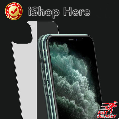 Foto Produk High Quality Back Tempered Glass Anti Gores Belakang iPhone 11 Pro Max - 11 Pro Max dari iShop Here