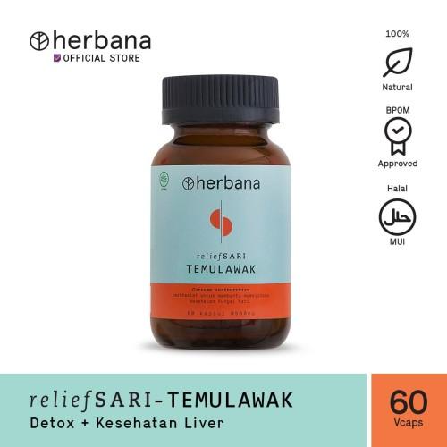 Foto Produk Herbana Relief Sari Temulawak - 60 Kapsul dari HERBANA