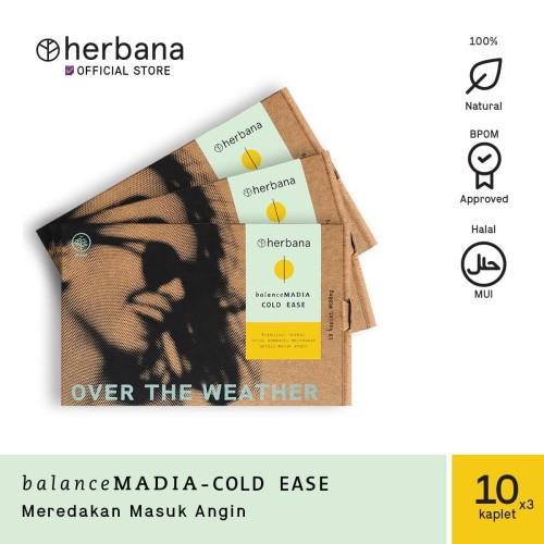 Foto Produk Herbana Balance Madia Cold Ease - 10 Kaplet (Bundling 3pc) dari HERBANA