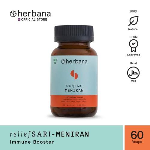 Foto Produk Herbana Relief Sari Meniran - 60 Kapsul dari HERBANA