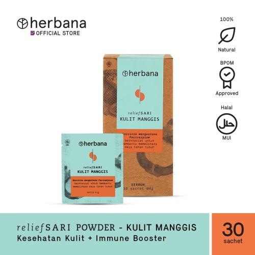 Foto Produk Herbana Relief Sari Powder Kulit Manggis - Isi 30 Sachet @4g dari HERBANA