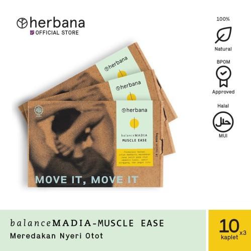 Foto Produk Herbana Balance Madia Muscle Ease - 10 Kaplet (Bundling 3pc) dari HERBANA