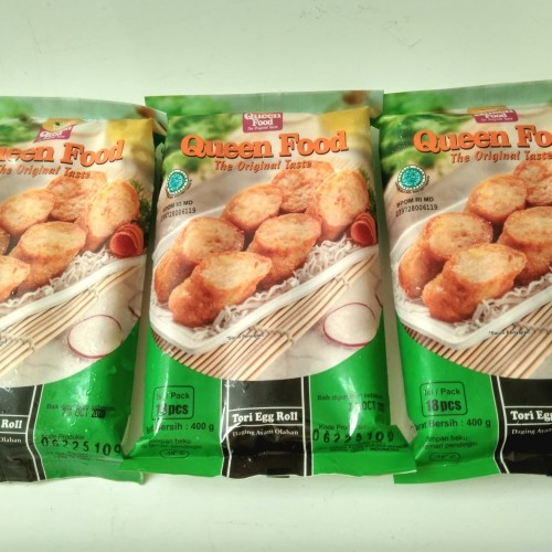 Foto Produk Queen Food Tori Egg Chicken Roll 400gr isi 18 dari Frozen Mart Plus