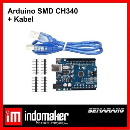 Foto Produk [A8] - Arduino Uno R3 clone Compatible SMD CH340 + Kabel dari indomaker