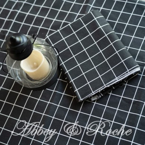 Foto Produk Kain Kanvas Impor motif Black Square dari abbey & linen