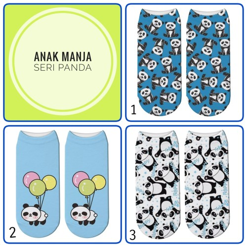 Foto Produk Kaos Kaki import Anak Perempuan/Laki laki Seri Panda dari Anak Manja