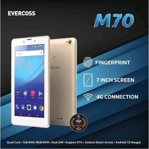 Foto Produk EVERCOSS M70 1/8 TABLET 4G Ram 1GB Rom 8Gb GARANSI RESMI dari Nic-cell