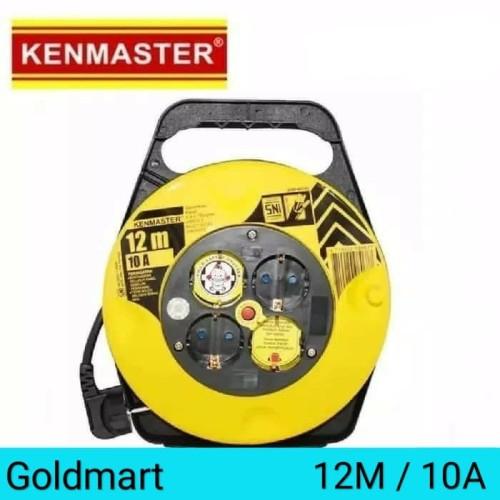 Foto Produk Kabel Roll 12m / Kenmaster Kabel Rol 4 Lubang dari Gold-Mart