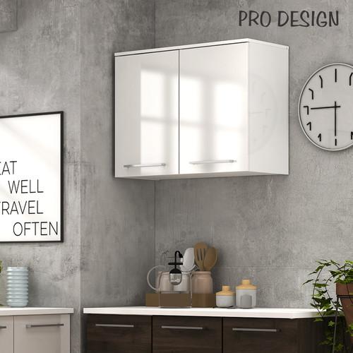 Foto Produk Pro Design Oklava Kabinet Dinding Dapur Dengan 2 Pintu - White Glossy dari Pro Design
