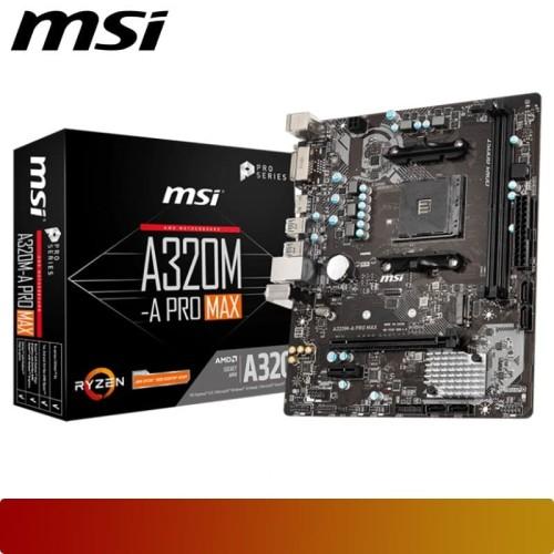 Foto Produk Motherboard MSI - A320M-A PRO MAX Ryzen AM4 Micro ATX Form Factor dari Nano Komputer