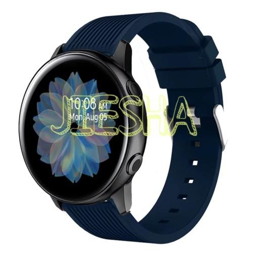 Foto Produk SAMSUNG GALAXY WATCH ACTIVE 2 40MM 44MM STRAP SILIKON STRIP WATCH BAND dari Jiesha Shop
