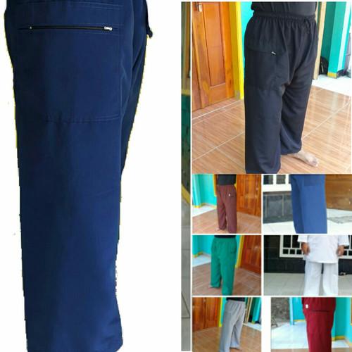Foto Produk sirwal celana pangsi full panjang eceran dan grosir - Putih, S dari bajupangsikonveksi