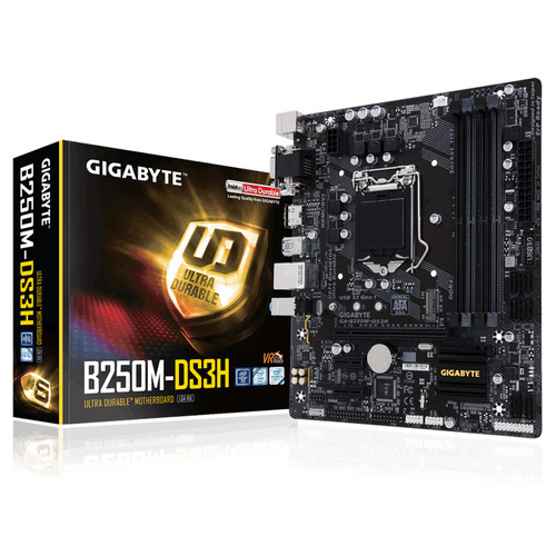 Foto Produk Gigabyte Motherboard GA-B250M-DS3H LGA1151 Intel Micro ATX DDR4 dari Simone Comindo CV