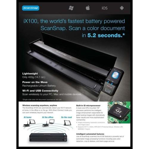Foto Produk Murah Fujitsu Ix100 Portable Scanner dari zabdan amin