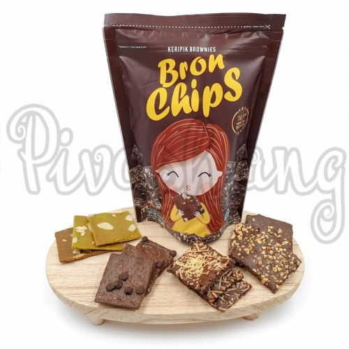 Foto Produk BronChips Keripik Brownies Kripik Bron Chips - Choco Chip dari Pivashang