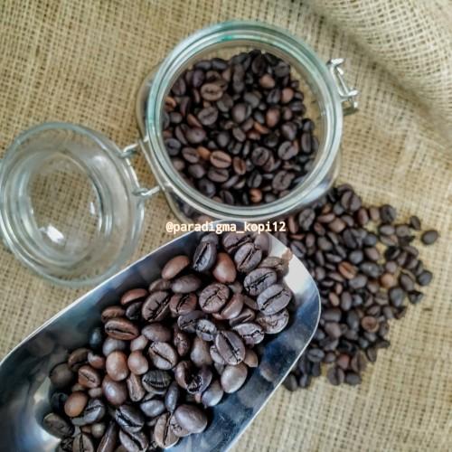 Foto Produk 1kg biji kopi robusta roasting (biji besar) dari paradigma.kopi12