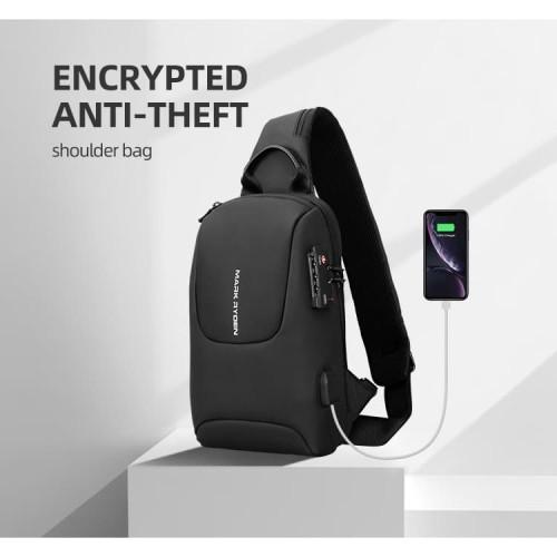 Foto Produk Tas Selempang MARK RYDEN MR7039 ORIGINAL TSA Lock Sling Bag USB Port dari Warehousegadget28