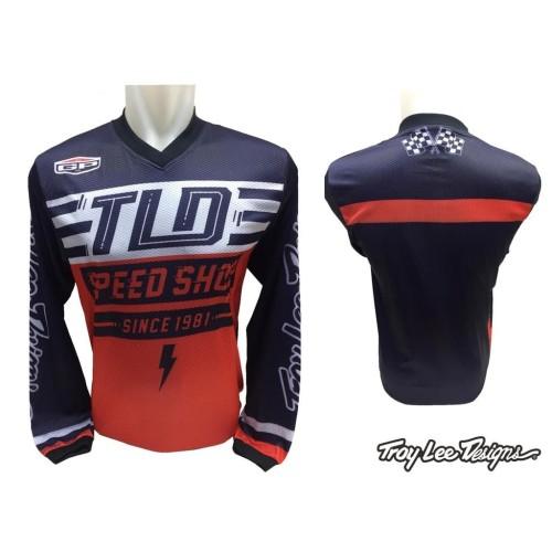 Foto Produk Kaos Jersey Sepeda Motor Cross Trail TLD 03 L dari Toko Kaos Tanah Abang