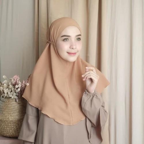 Foto Produk Kerudung Instant Bergo Tali / Khimar Syari Termurah dari Alamak Hijab