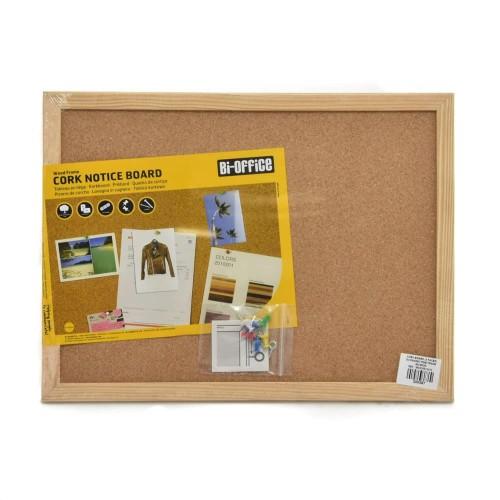 Foto Produk Bi-Silque Cork Board Papan Buletin 60x45 Cm - Papan Mading dari toy house