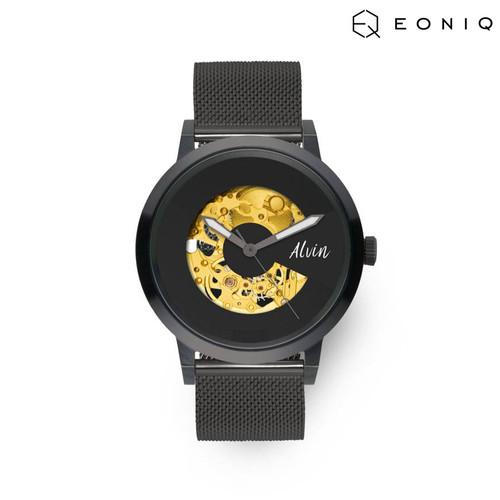 Foto Produk Jam Tangan Custom Mekanik EONIQ Pinot Blanc (38 mm) - Mesh Band dari EONIQ