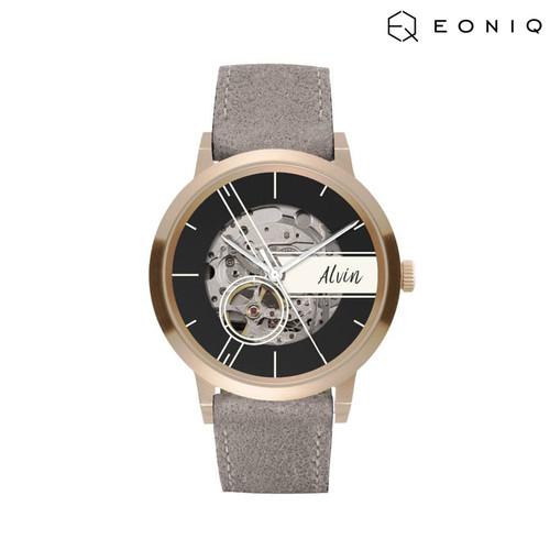 Foto Produk Jam Tangan Custom Mekanik EONIQ Pinot Blanc (38 mm) - Nubuck Strap dari EONIQ