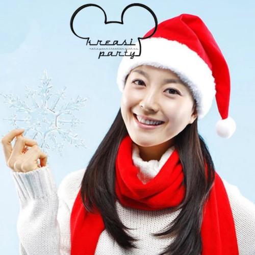 Foto Produk Topi Natal Polos / Topi Natal / Topi Santa Claus / Christmas Hat dari krEAsi party
