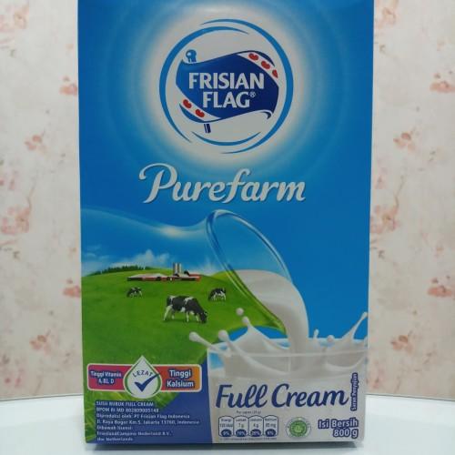 Foto Produk Susu Bubuk Frisian Flag Bendera Purefarm Full Cream isi 800g Kotak dari bySure