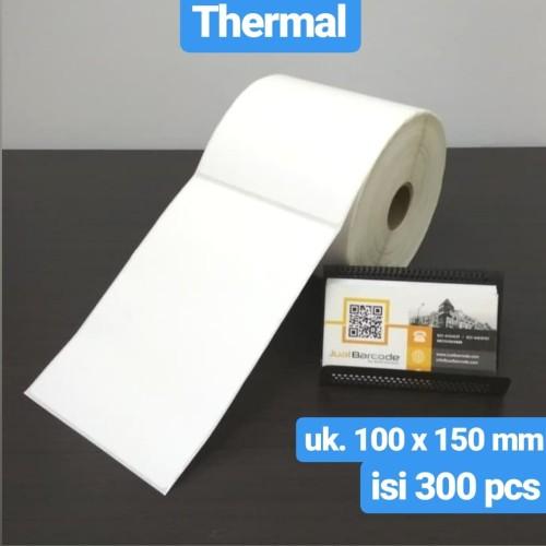 Foto Produk LABEL BARCODE 100 X 150 KERTAS STICKER THERMAL 100x150 mm (300 pcs) dari Barcode Official Store