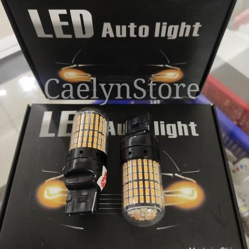 Foto Produk Lampu Sein Mobil LED T20 Kaki 2 Tancap 144smd Canbus - Kuning dari CaelynStore