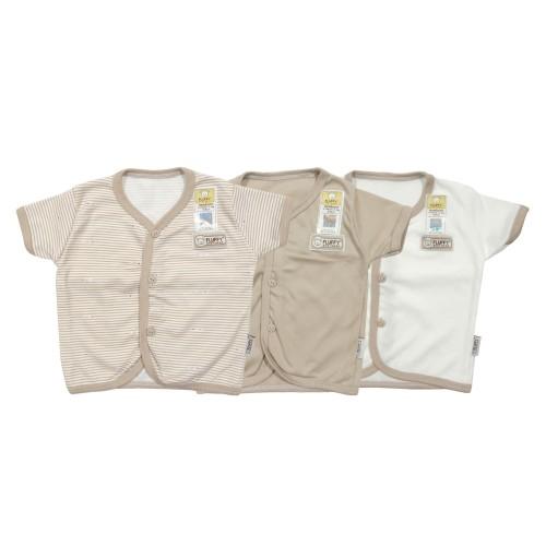 Foto Produk FLUFFY Baju Bayi Pendek Bis (Isi 3Pcs) Bdab Kki Newborn dari FLUFFY Baby Wear