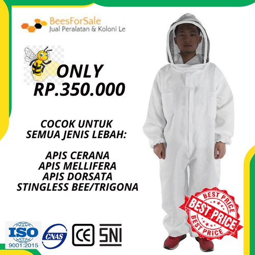 Foto Produk Baju Anti Lebah Fullbody - L dari Beesforsale