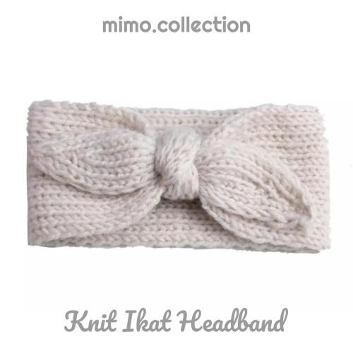 Foto Produk Knit ikat Baby Headband Bando Bandana Rajut Knot Turban Anak Bayi - Beige dari Mimo collection