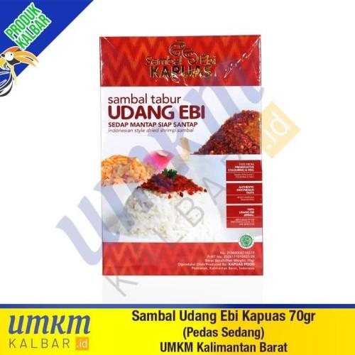 Foto Produk Sambal Udang Ebi Kapuas 70gr (Pedas Sedang) - Oleh-Oleh Khas Kalbar dari umkmkalbar.id