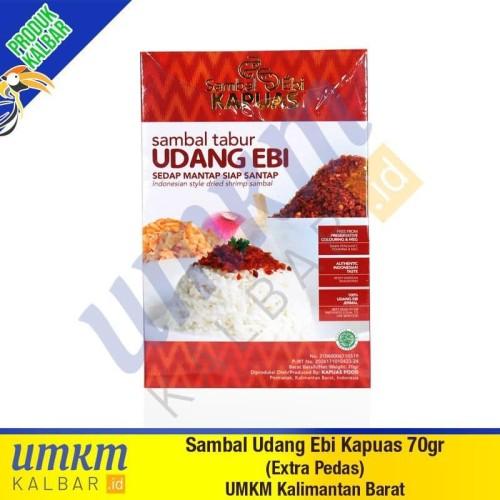 Foto Produk Sambal Udang Ebi Kapuas 70gr (Extra Pedas) - Oleh-Oleh Khas Kalbar dari umkmkalbar.id