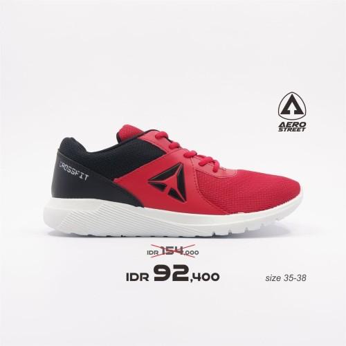 Foto Produk Aerostreet 35-38-Crossfit-Merah-Hitam-Sepatu Sneakers Casual Pria - 35 dari Aerostreet